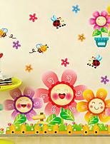 Цветочные / Деревья / Листья / Ар деко Обои Для дома Современный Облицовка стен , ПВХ/винил материал Клей требуется фреска , номер