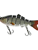 Hengjia 1pcs Hard Fishing Baits 6 section Jointed Minnow 100MM 18G