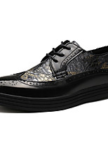 Men's Oxfords Spring / Summer / Fall / Winter Comfort Patent Leather Office & Career / Casual Chunky Heel Black