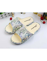 Men's Slippers & Flip-Flops Spring / Summer / Fall Flats Leatherette Outdoor Flat Heel Applique Yellow / Gray Walking