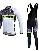 Miloto® Cycling Jersey with Bib Tights Women's / Men's / Unisex Long Sleeve BikeBreathable / Thermal / Warm / Quick Dry / Fleece Lining /