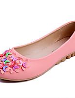 Черный / Синий / Розовый / Белый-Женский-Для прогулок / На каждый день-Дерматин-На плоской подошве-Удобная обувь / Балетки-На плокой
