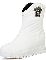 Women's Boots Spring / Fall / Winter Snow Boots / Fashion Boots Leatherette/ Casual Wedge Heel OthersBlack / White /