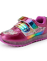 Girl's Sneakers Fall Flats Microfibre Outdoor / Casual Flat Heel Others Pink / Purple / Peach Others