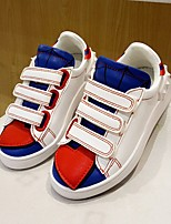 Girl's Sneakers Fall Comfort / Round Toe Leatherette Casual Flat Heel Magic Tape White Others