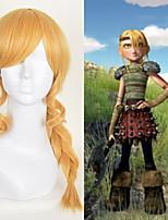 аниме косплей парик, как приручить дракона Астрид плетение волос длинная коса золотой термостойкий синтетический парик