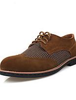 Коричневый Желтый Серый-Мужской-Повседневный-Полиуретан-На плоской подошве-Удобная обувь-Туфли на шнуровке