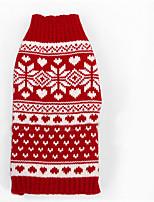 Hunde Pullover Rot Hundekleidung Winter Streifen Lässig/Alltäglich / warm halten /