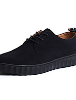 Men's Oxfords Spring / Fall Comfort PU Casual Flat Heel  Black / Blue / Gray Sneaker