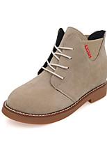 Women's Oxfords Spring / Fall Comfort PU Casual Flat Heel  Black / Gray / Khaki Sneaker
