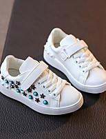 Unisex-Sneaker-Lässig-PU-Flacher Absatz-Flache Schuhe-Schwarz / Weiß