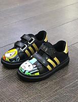 Unisex-Sneaker-Lässig-Mikrofaser-Flacher Absatz-Komfort-Schwarz