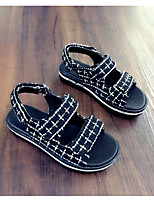 Unisex Sandals Summer Customized Materials Casual Flat Heel Others Black Others