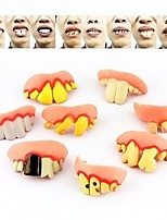 Hot Selling 8pcs Funny Goofy Fake Vampire Denture Teeth Halloween Decoration Props Trick Toy