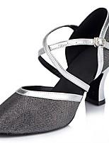 Customizable Women's Dance Shoes Sparkling Glitter Latin / Modern Sandals / Heels Customized Heel Indoor / Performance