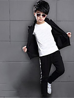 Boy's Casual/Daily Print Clothing SetCotton Spring / Fall Black / Blue / Red
