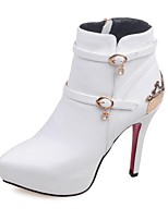 Mujer-Tacón Stiletto Plataforma-Plataforma Confort Innovador Cowboy Botas de Nieve Pump Básico Botas de Equitación-Botas-Boda Exterior