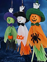 3PCS Ghosts Garlands  Bunting Decorations Halloween Cloth Ghosts Strings Photo Props wall Background Festival Decor