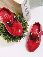 Girl's Flats Fall Leatherette Casual Flat Heel Sparkling Glitter Pink Red White Peach Walking
