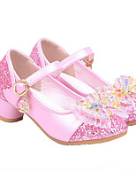 Розовый БелыйСвадьба Для праздника Повседневный Для вечеринки / ужина-Синтетика-На низком каблуке-Удобная обувь Light Up обувь-На плокой