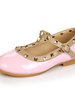 Flats Summer Ballerina Light Up Shoes Leatherette Casual Flat Heel Rivet Black Pink Red White Other