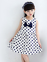 Girl's Casual/Daily Polka Dot DressPolyester Summer Blue / Red / White