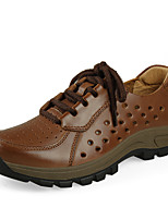 Men's Sneakers Fall Comfort Leather Outdoor Platform Lace-up Brown Coffee Others