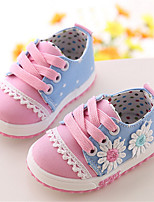 Girl's Sneakers Fall Comfort / Round Toe Canvas Casual Flat Heel Lace-up Pink / Coral Others