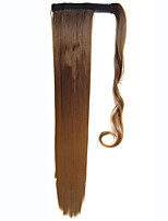 Wrap Around Ombre Ponytail Synthetic Hair Extension Clip On In Straight Hairpiece Colorful TwoTone pony tail55cm