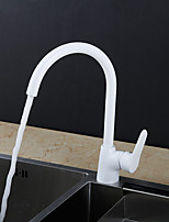 Contemporary / Modern Tall/High Arc / Standard Spout Vessel Widespread / Rotatable with  Ceramic ValveSingle