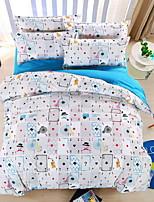 bedtoppings couette couverture couette couette 4pcs définir la taille de la reine feuille plate motif taie de poker imprime microfibre