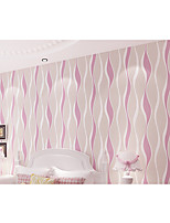 Simple Non-woven Living Roon Office Bedroon Wallpaper Twisted stripe of Wall Paper Roll