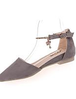 Women's Flats Fall Comfort Fleece Casual Flat Heel Buckle Pink / Gray / Khaki Others