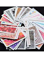 50 Nail Art Sticker Autocolantes de Unhas 3D maquiagem Cosméticos Prego Design Arte