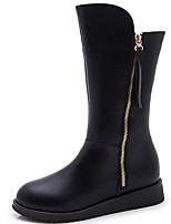 Women's Boots Fall / Winter Fashion Boots / Bootie Leatherette Outdoor / Dress Flat Heel Zipper