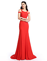 TS Couture® Formal Evening Dress Trumpet / Mermaid Straps Sweep / Brush Train Jersey with