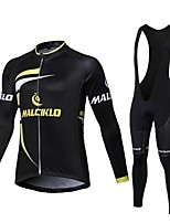 Sports Cycling Jersey with Bib Tights Men's Long Sleeve BikeBreathable / Quick Dry / Front Zipper / Wearable / High Breathability