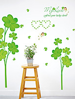 Wall Stickers Wall Decals Green Clover  Feature Removable Washable PVC