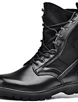 Unisex Boots Spring/Summer/Fall /Winter Combat Boots Nappa Leather Outdoor / Casual Chunky Heel Black Sneaker