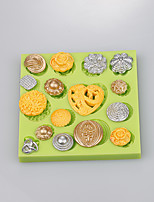 Cake decoration silicone button shape mold for sugar mold chocolate fondant cake tools