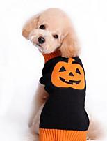 Dog Sweater Yellow / Black Dog Clothes Winter Fruit Halloween