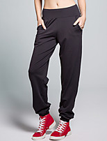 Yoga Pants Pants Breathable / Sweat-wicking / Static-free Natural Stretchy Sports Wear Red / Black