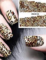 Fashion Printing Pattern Water Transfer Printing Leopard Print Nail Stickers