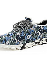 Men's Sneakers Spring / Fall Comfort Fabric Casual Flat Heel  Black / Blue Sneaker
