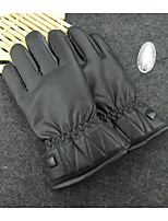 Winter Men Waterproof Warm Leather Gloves Washed With Plush Thicker Motorcycle Gloves