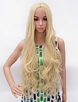 Fashion Long Curly Wig Blonde Color Synthetic African American Women Wigs
