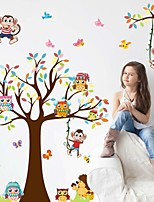Fashion Story Tree Living Room Bedroom Children's Room Background Decorative PVC Removable Wall Stickers