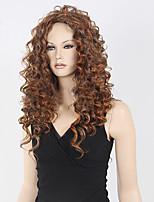 высокое качество блондинка коричневый фигурные парик средний длинный синтетический парик горячий низкая цена продажи.