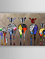 Oil Painting Abstract Zebras Hand Painted Canvas Painting with Stretched Framed Ready to Hang
