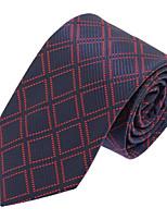 Cravate Vintage / Soirée / Travail / Décontracté Polyester,Homme Rayé,Noir Toutes les Saisons